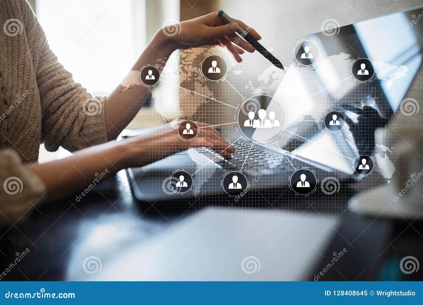 De structuur van de mensenorganisatie U Personeel en rekrutering Mededeling, Internet-technologie Bedrijfs concept