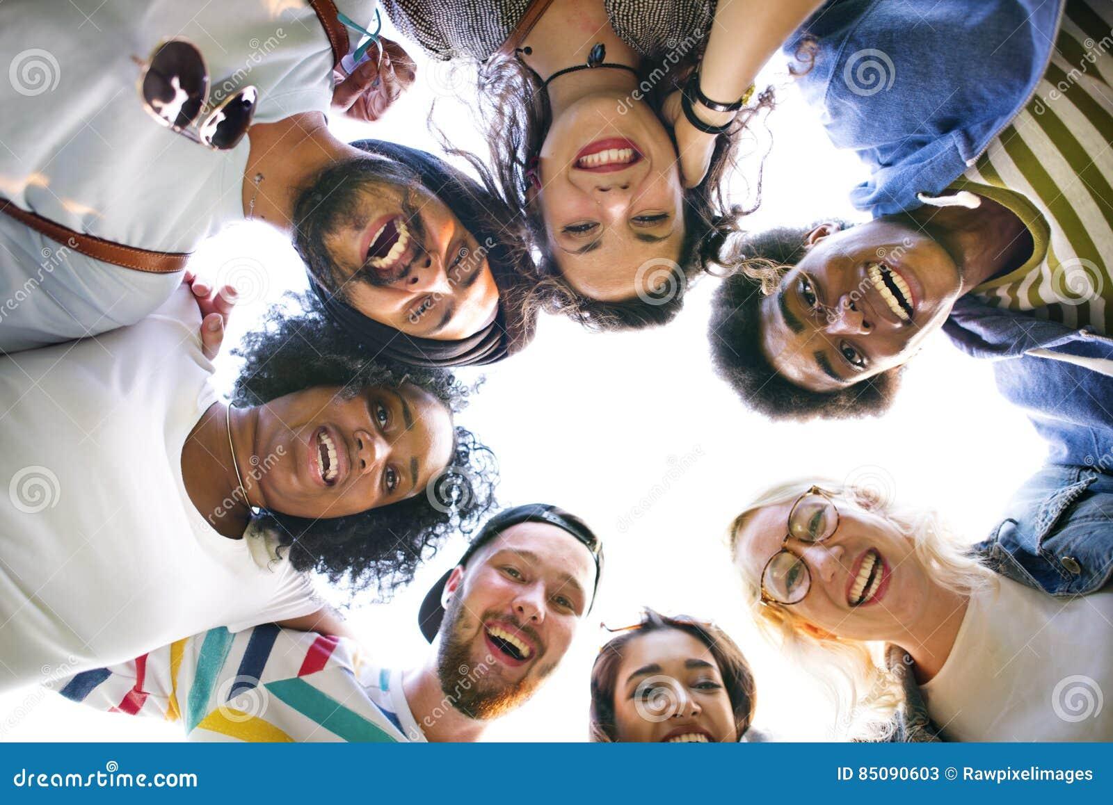 De Student Relationship Team Concept van de collega sverbinding