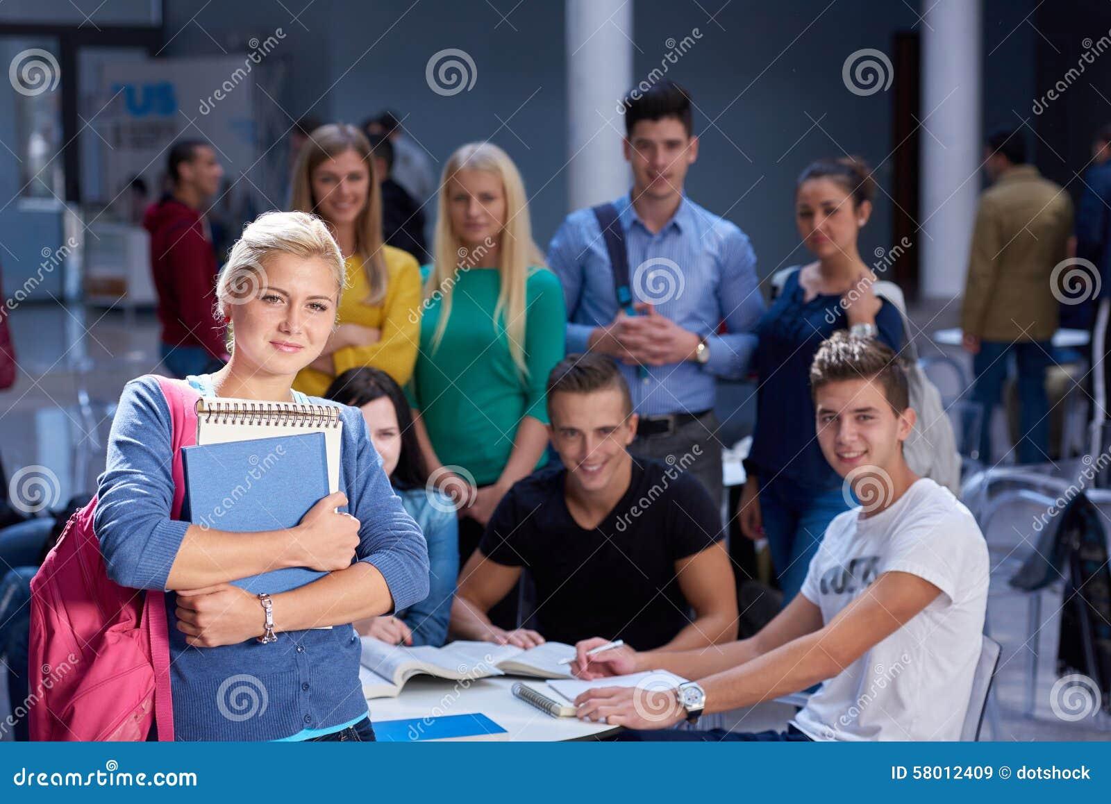 De studie van de studentengroep