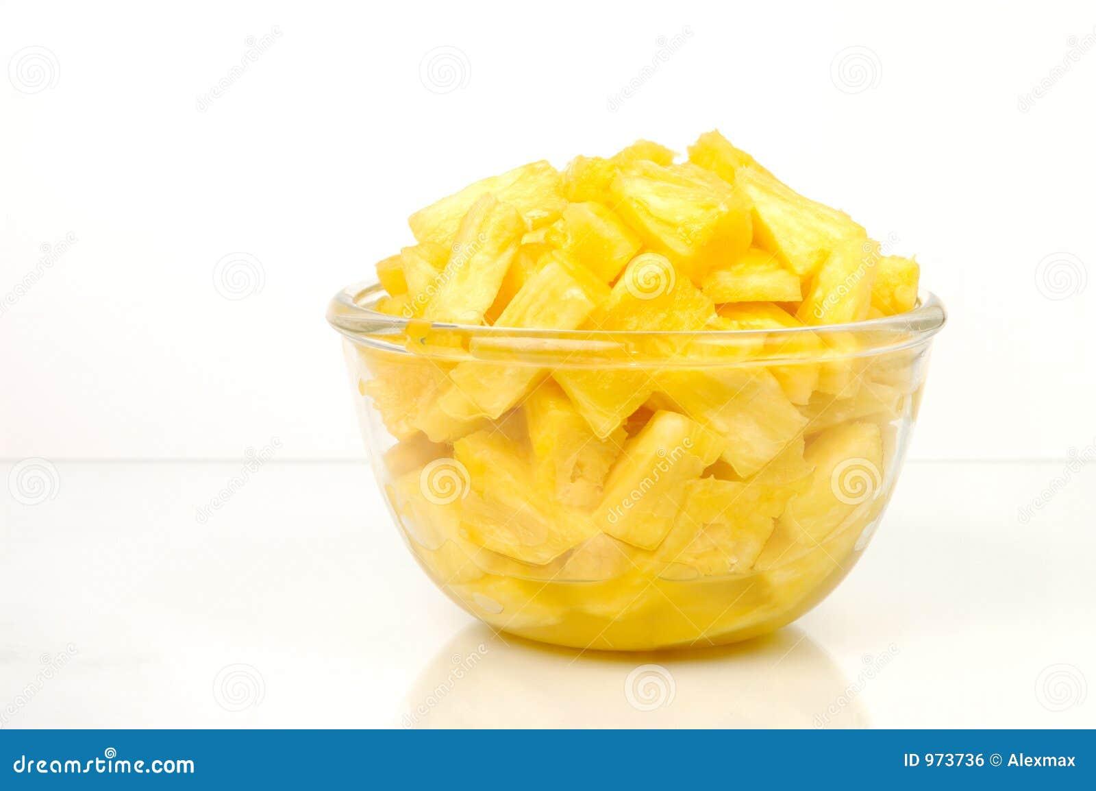 De stukken van de ananas