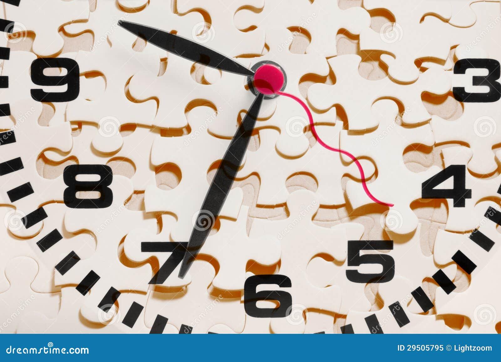 De Stukken van de klok en van de Puzzel