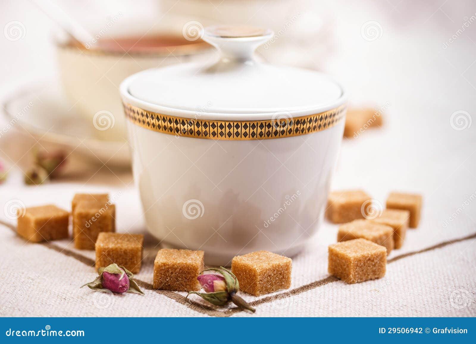 De suikerkom van het porselein