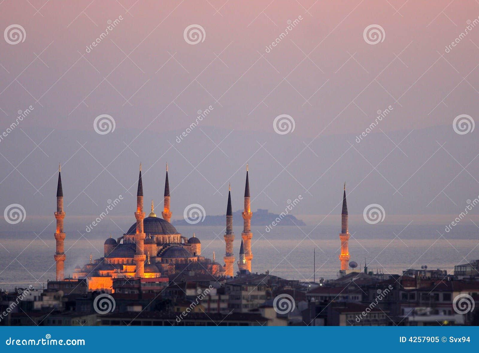 De sultan Ahmed Mosque - Blauwe Moskee van Istanboel
