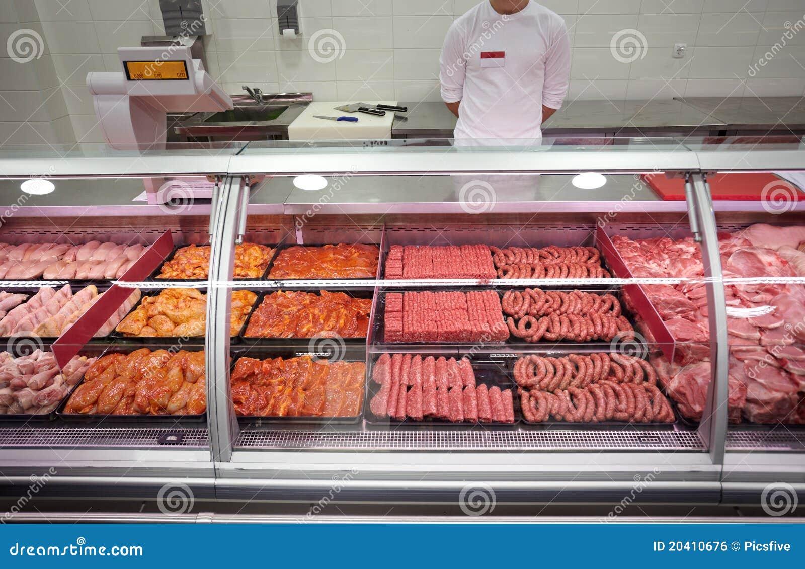 De supermarkt van het vlees