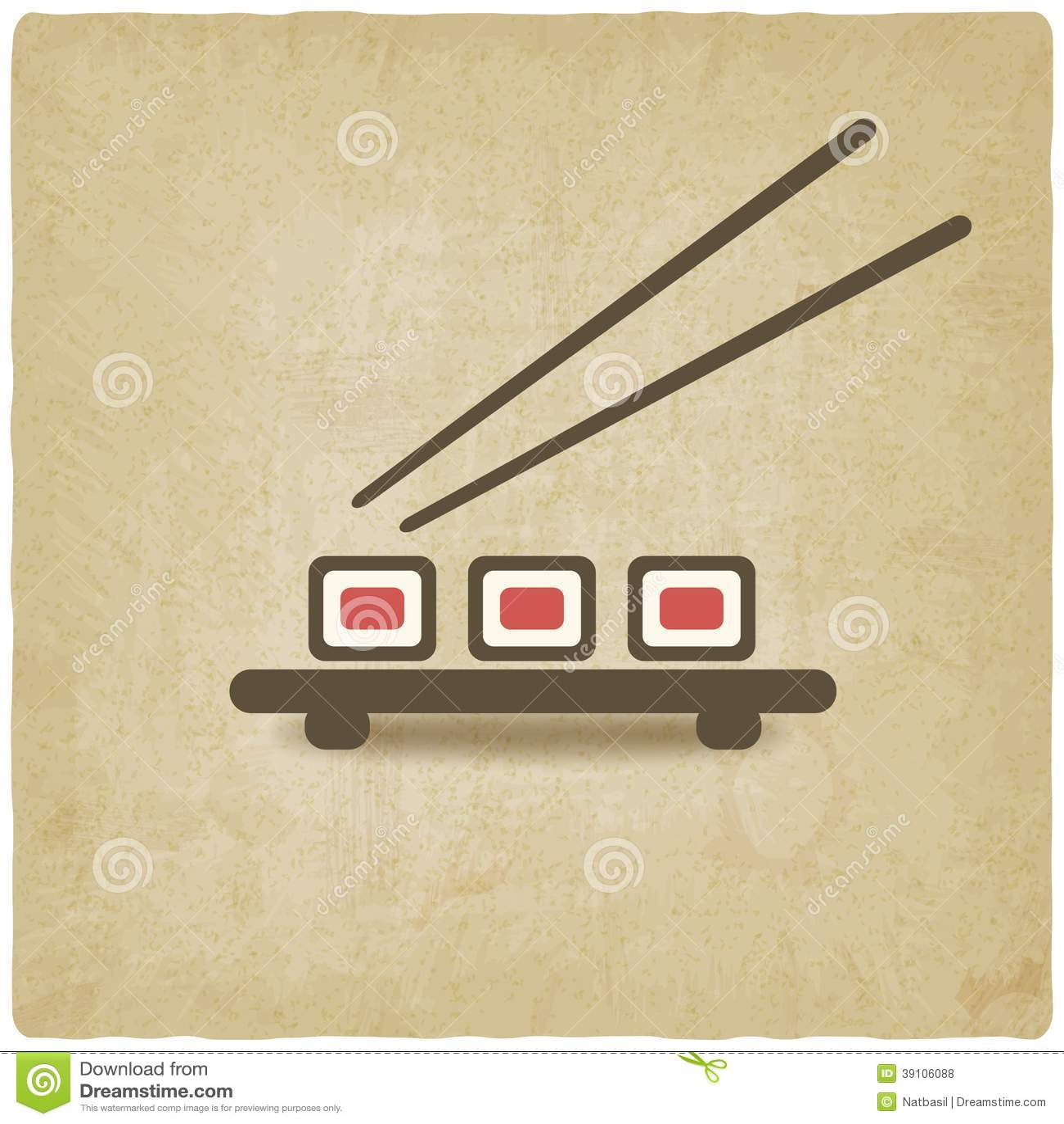 De sushi rollen oude achtergrond