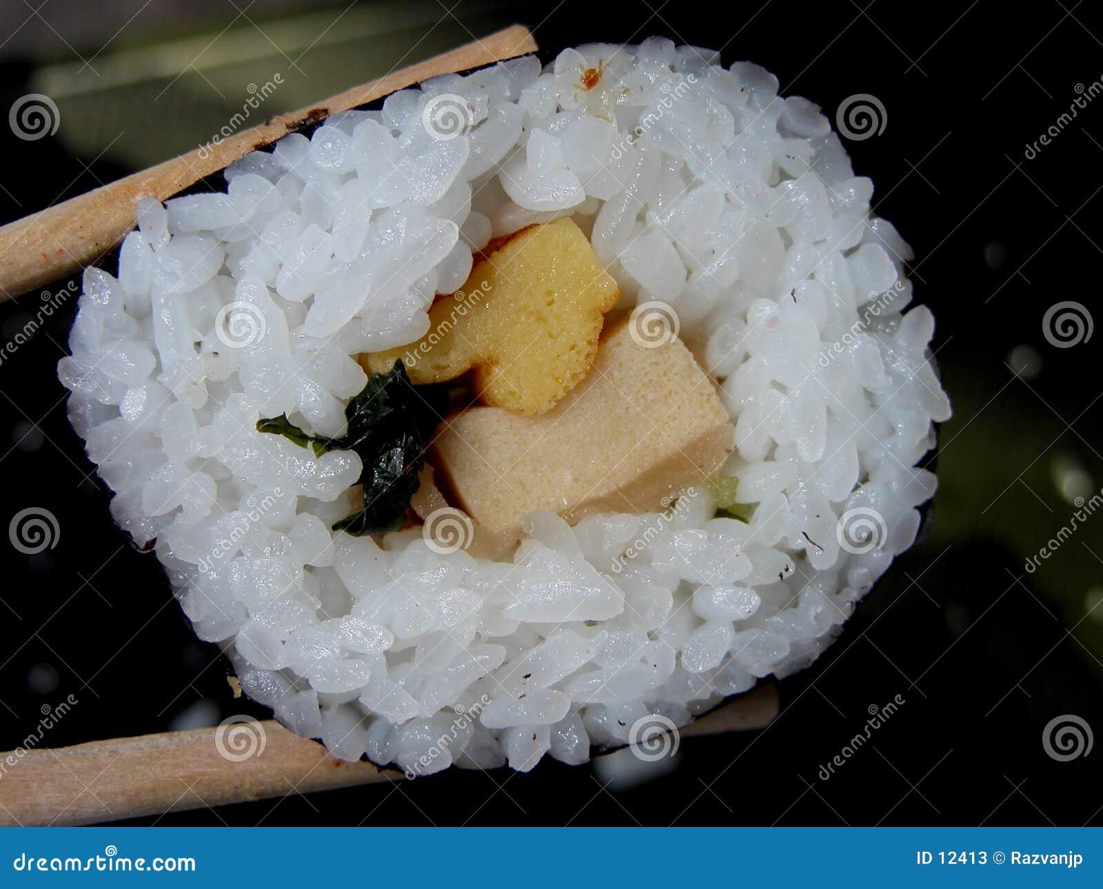 De sushi van groenten