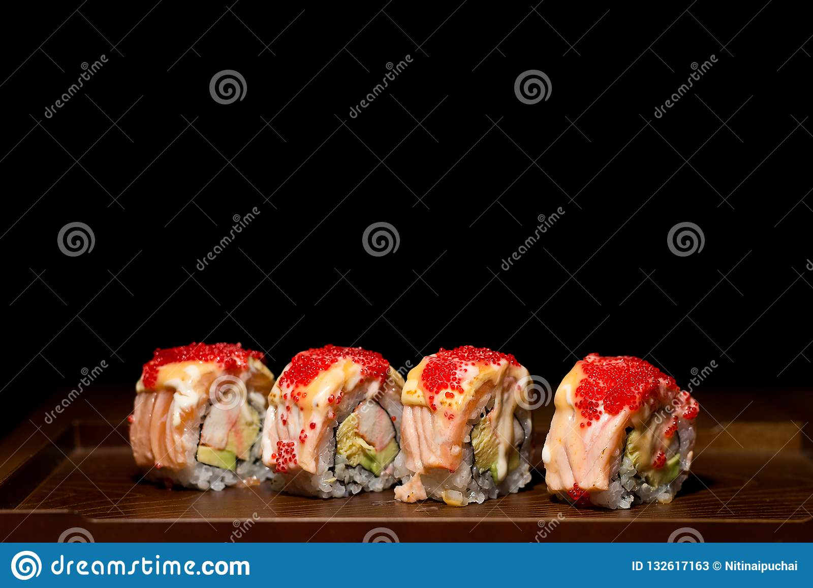 De sushi van de zalm