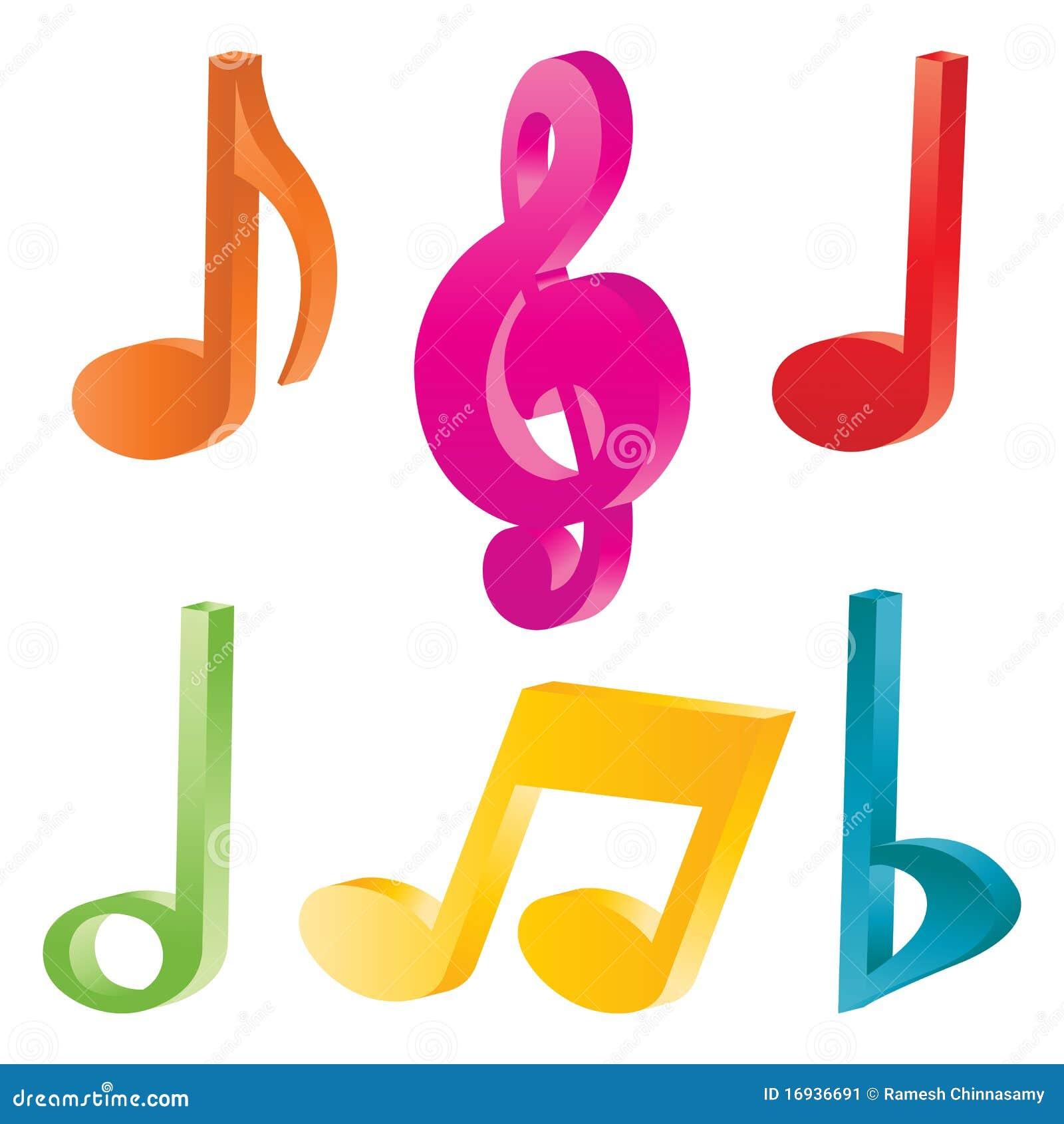 De symbolen van de muziek