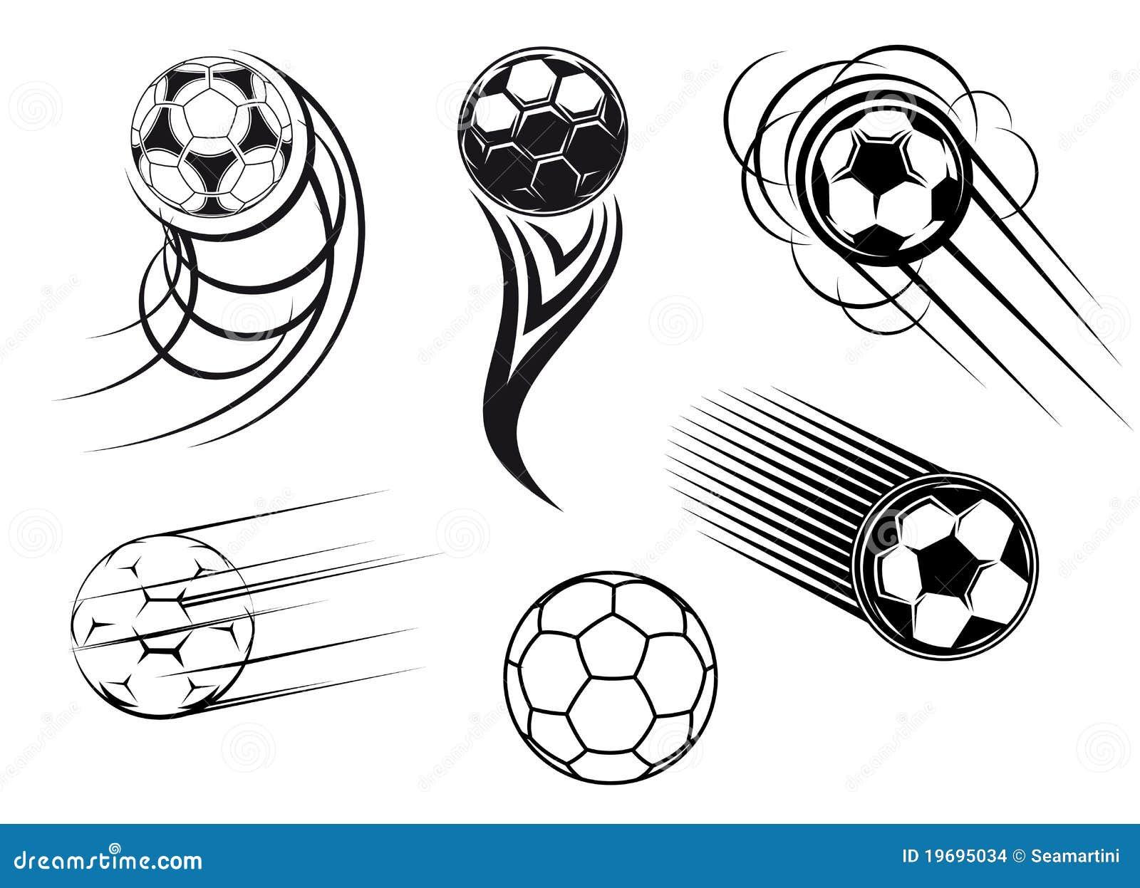 De symbolen van de voetbal en van het voetbal
