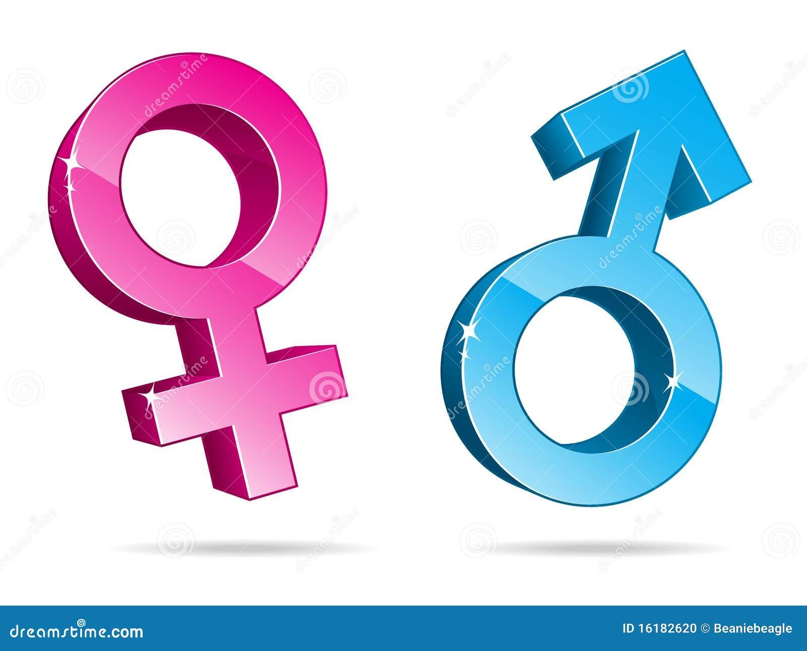 De Symbolen van het geslacht in 3D