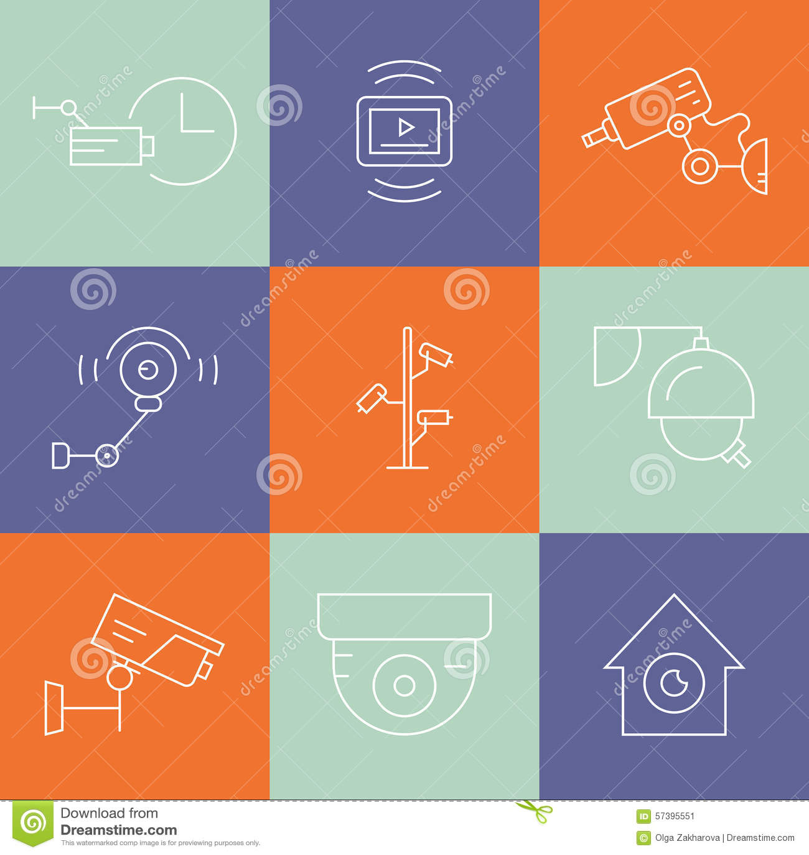 De Symbolen van lijnkabeltelevisie