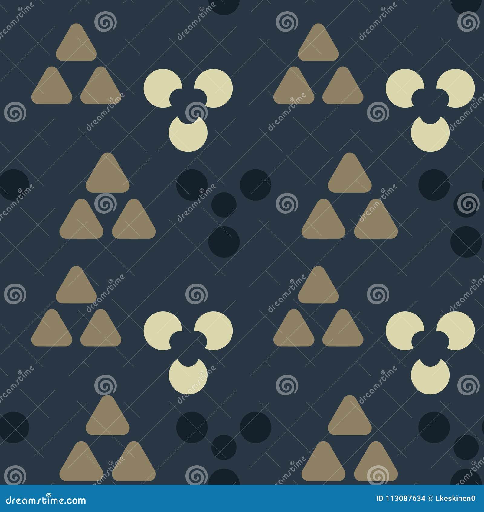 De symmetrie naadloos patroon van holtekens