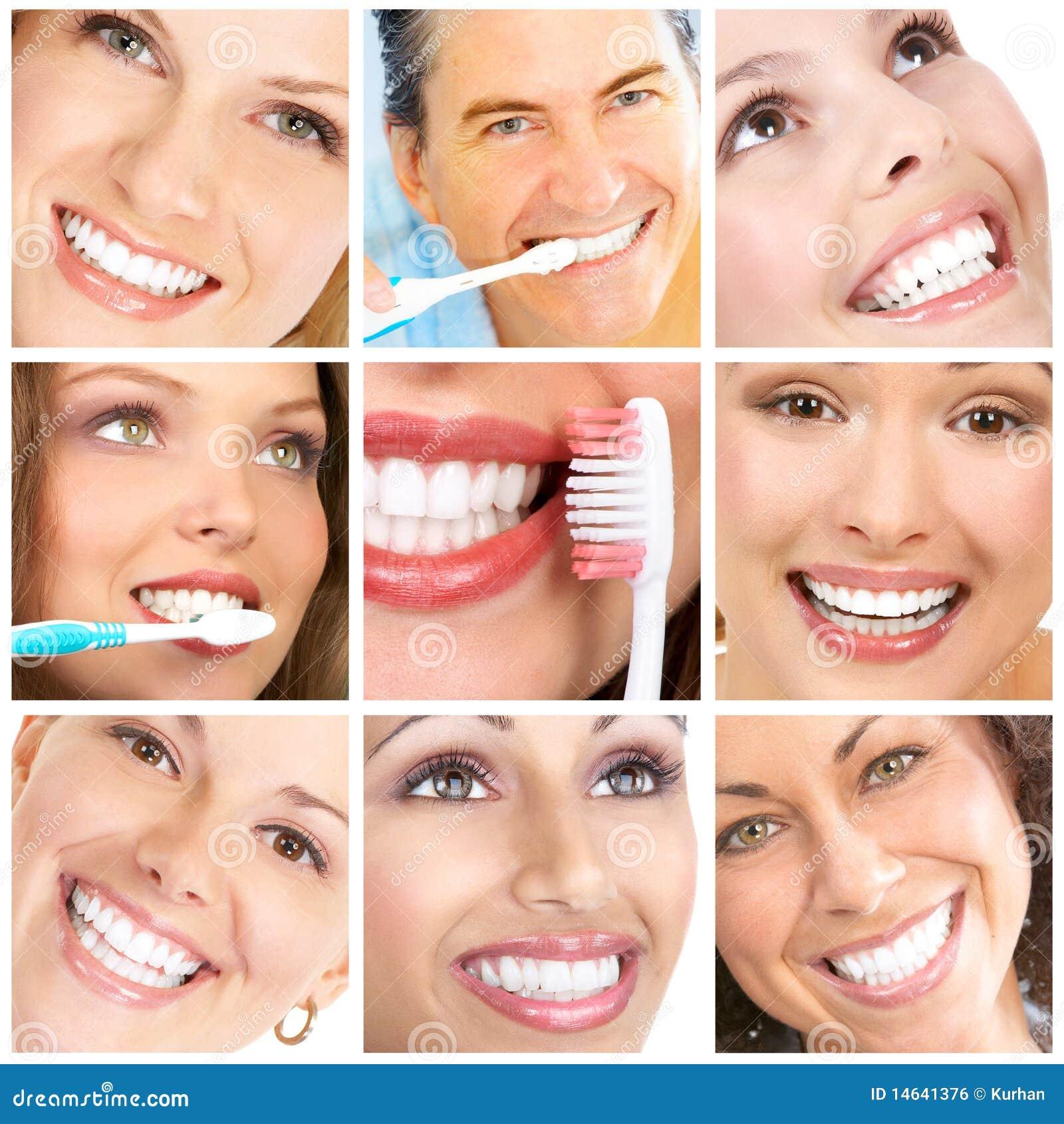 De tanden van glimlachen ANS
