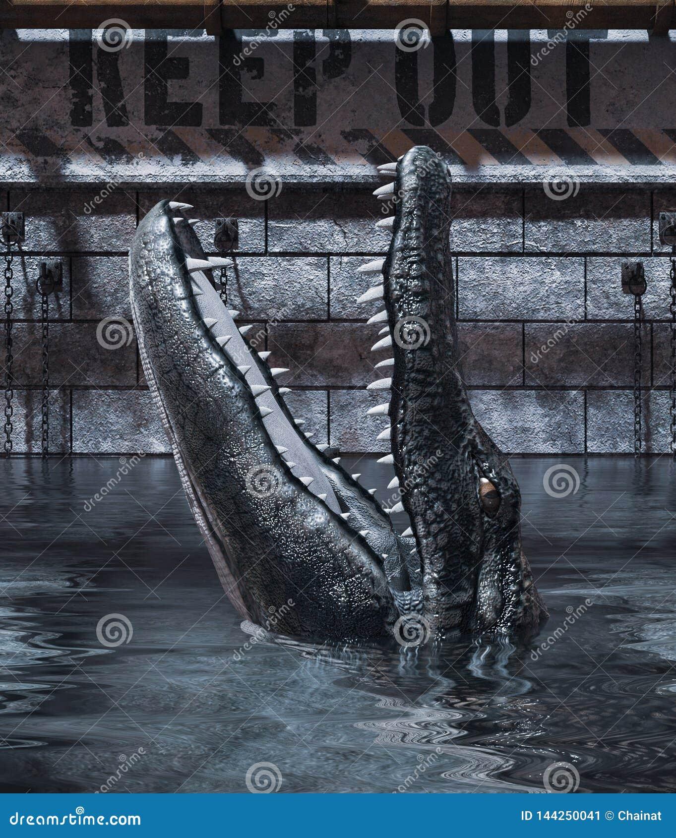 De tank van de alligator gelieve te houden uit