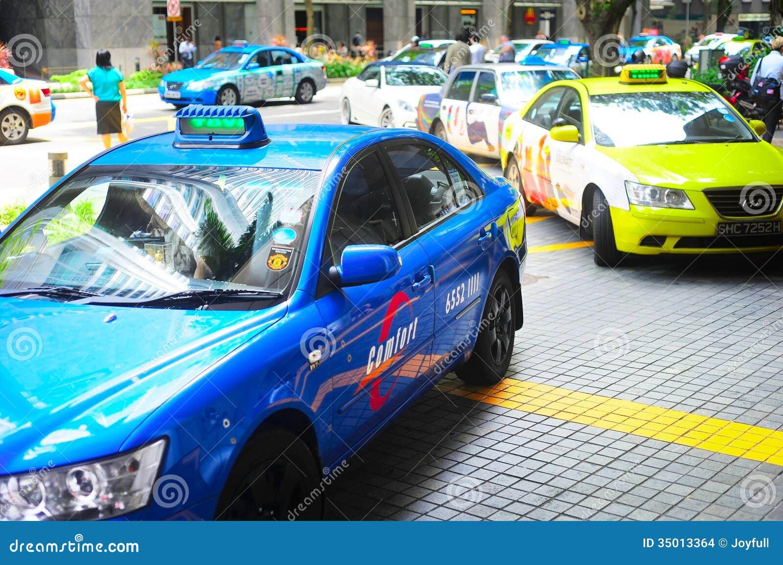 De Taxicabine van Singapore