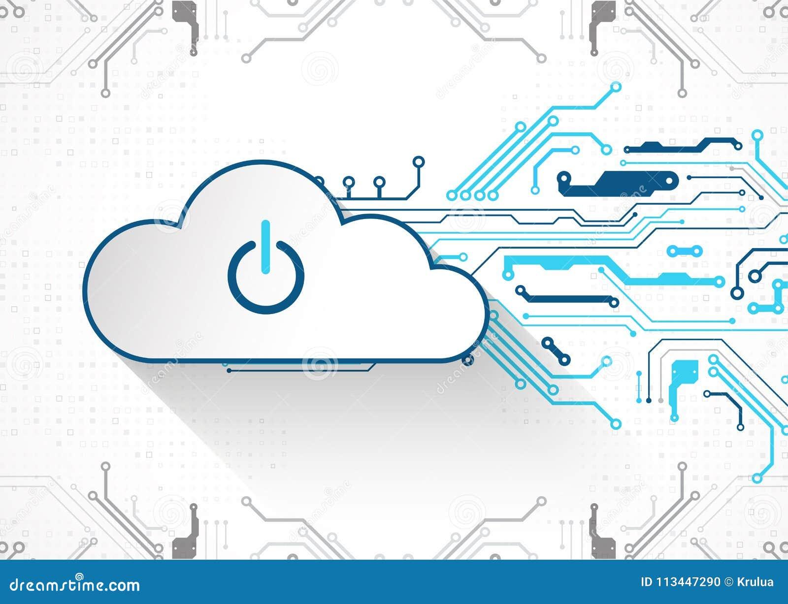 De technologie van de bedrijfs Webwolk abstracte achtergrond Vector