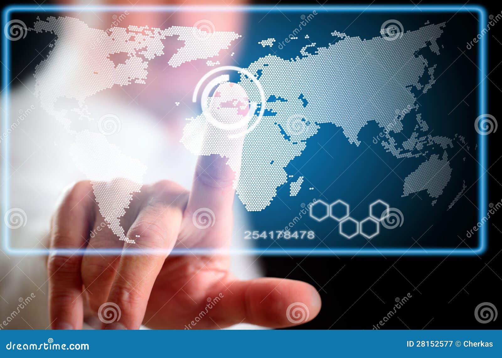 De technologie van de vertoning van toekomst