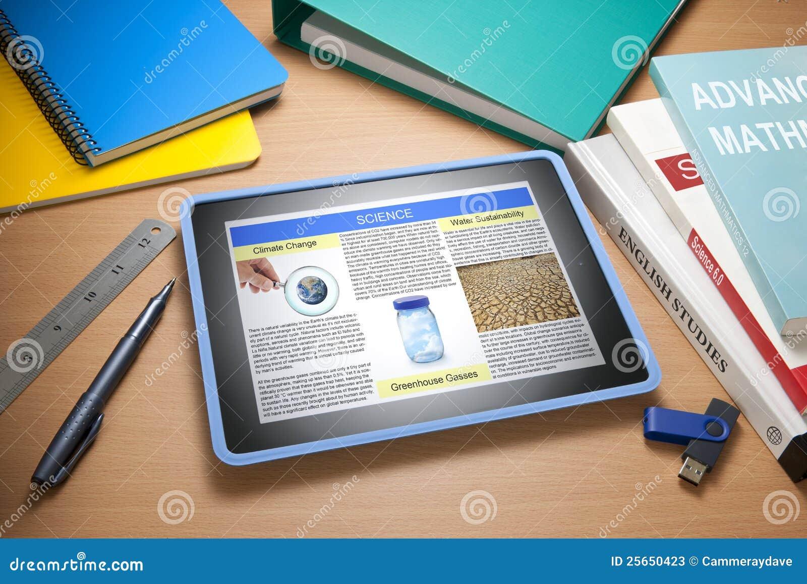 De Technologie van het Onderwijs van de School van de tablet
