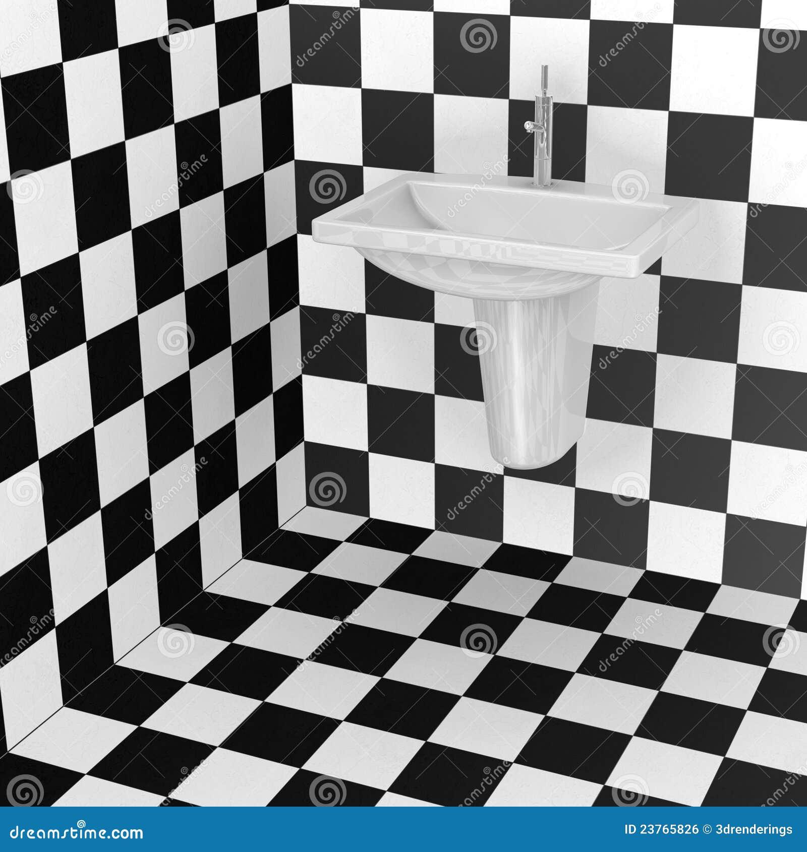 De tegels van de badkamers zwart wit patroon royalty vrije stock afbeelding afbeelding 23765826 - Tegel patroon badkamer ...