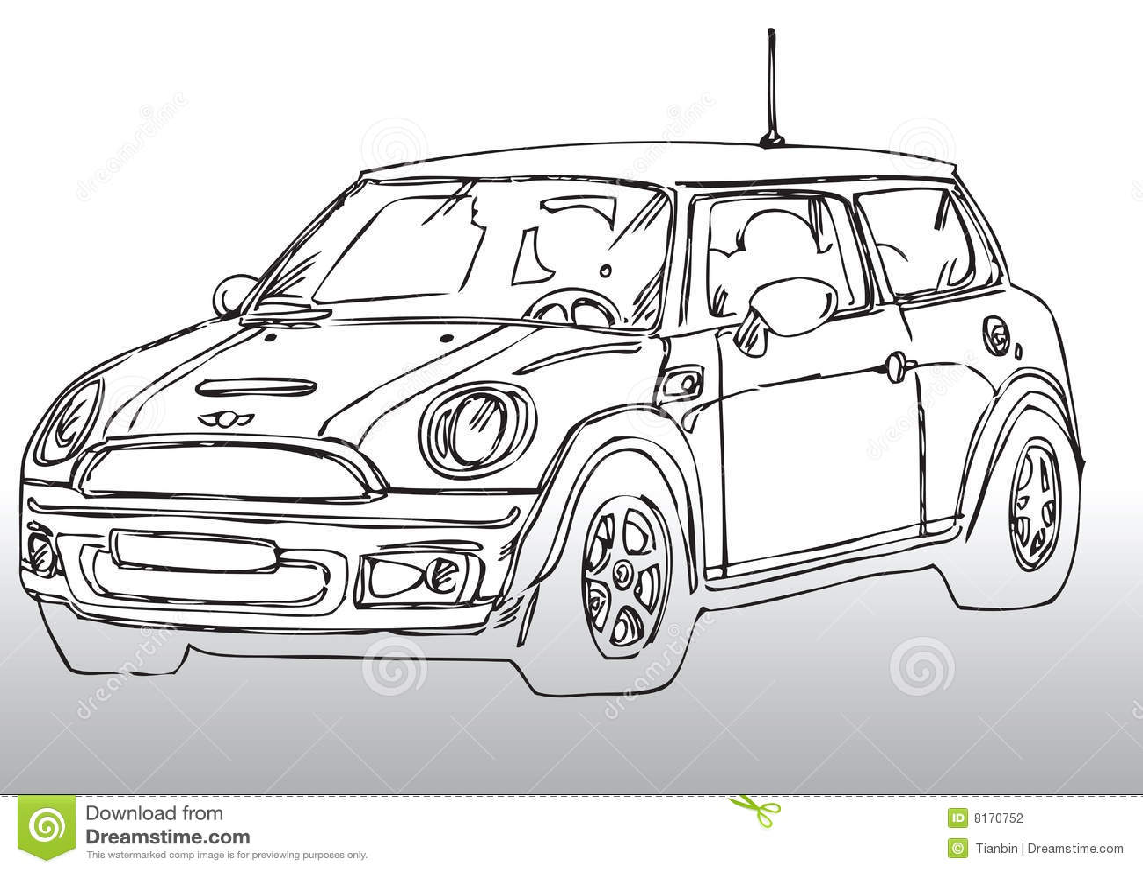 Hand Drawn Race Car