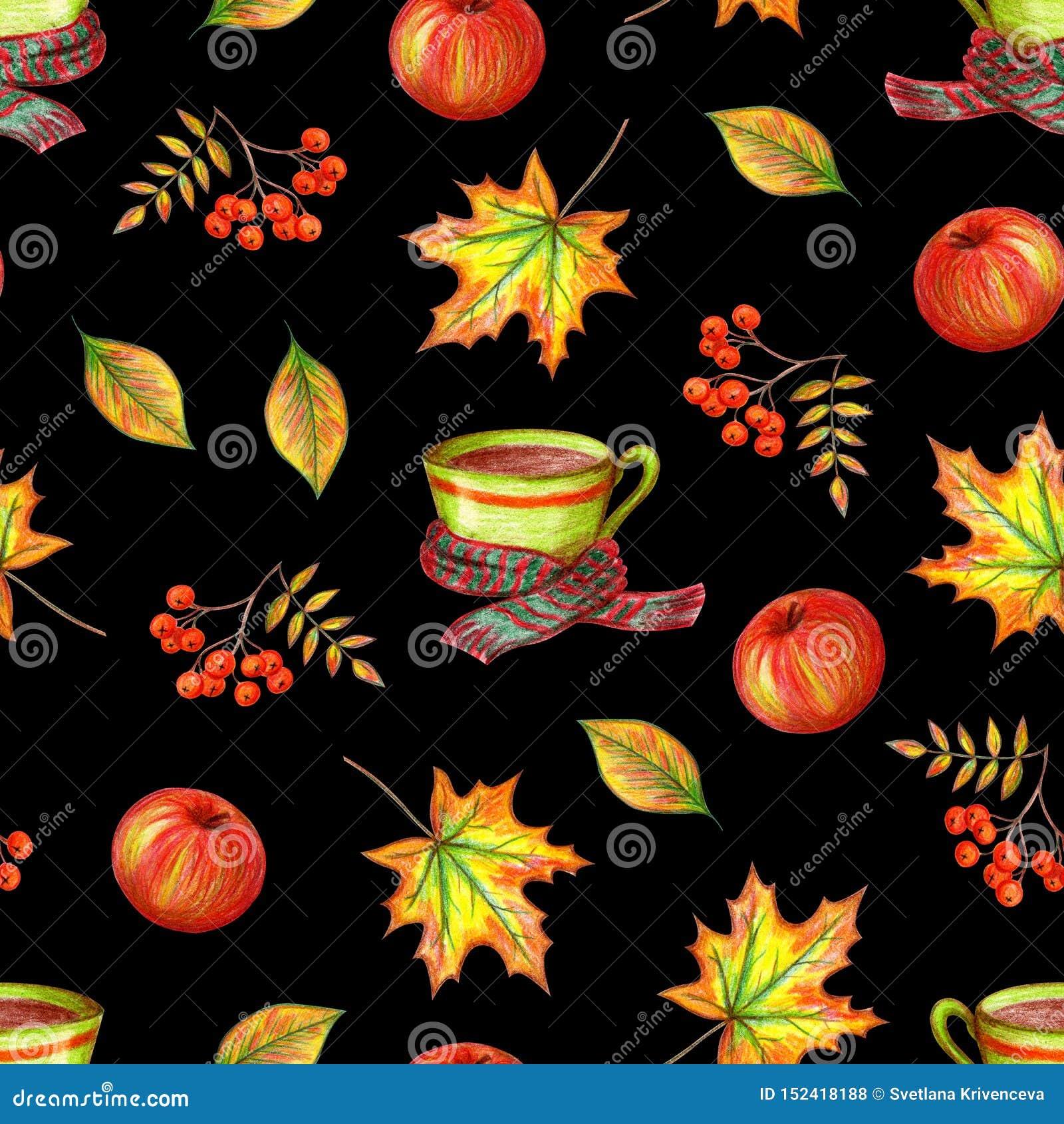 De tekening van de de herfsthand