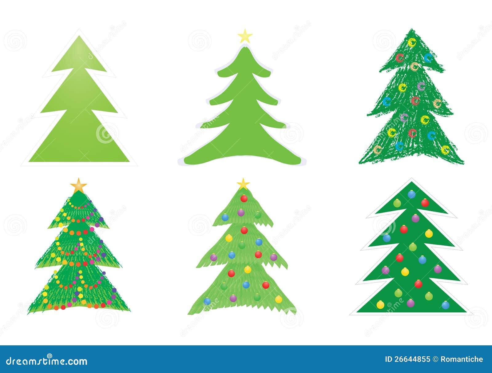 De Tekeningen Van De Kerstboom Vector Illustratie ... - photo#24