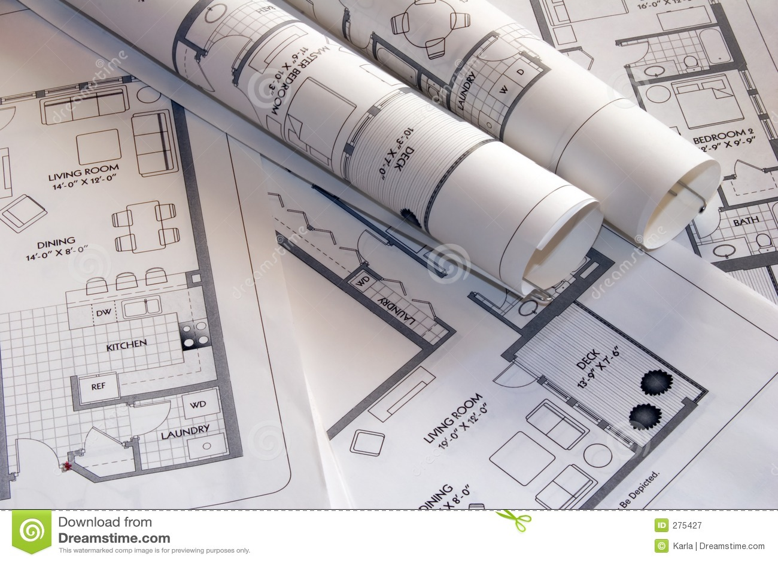 De tekeningen van het plan