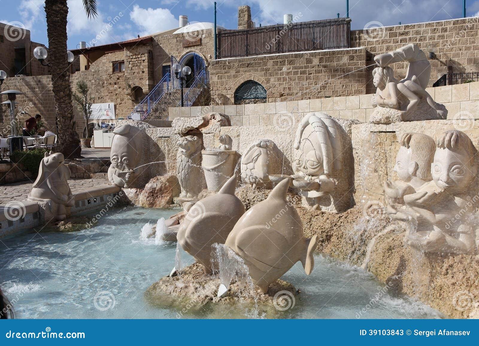 De tekens van de fonteindierenriem. Tel Aviv