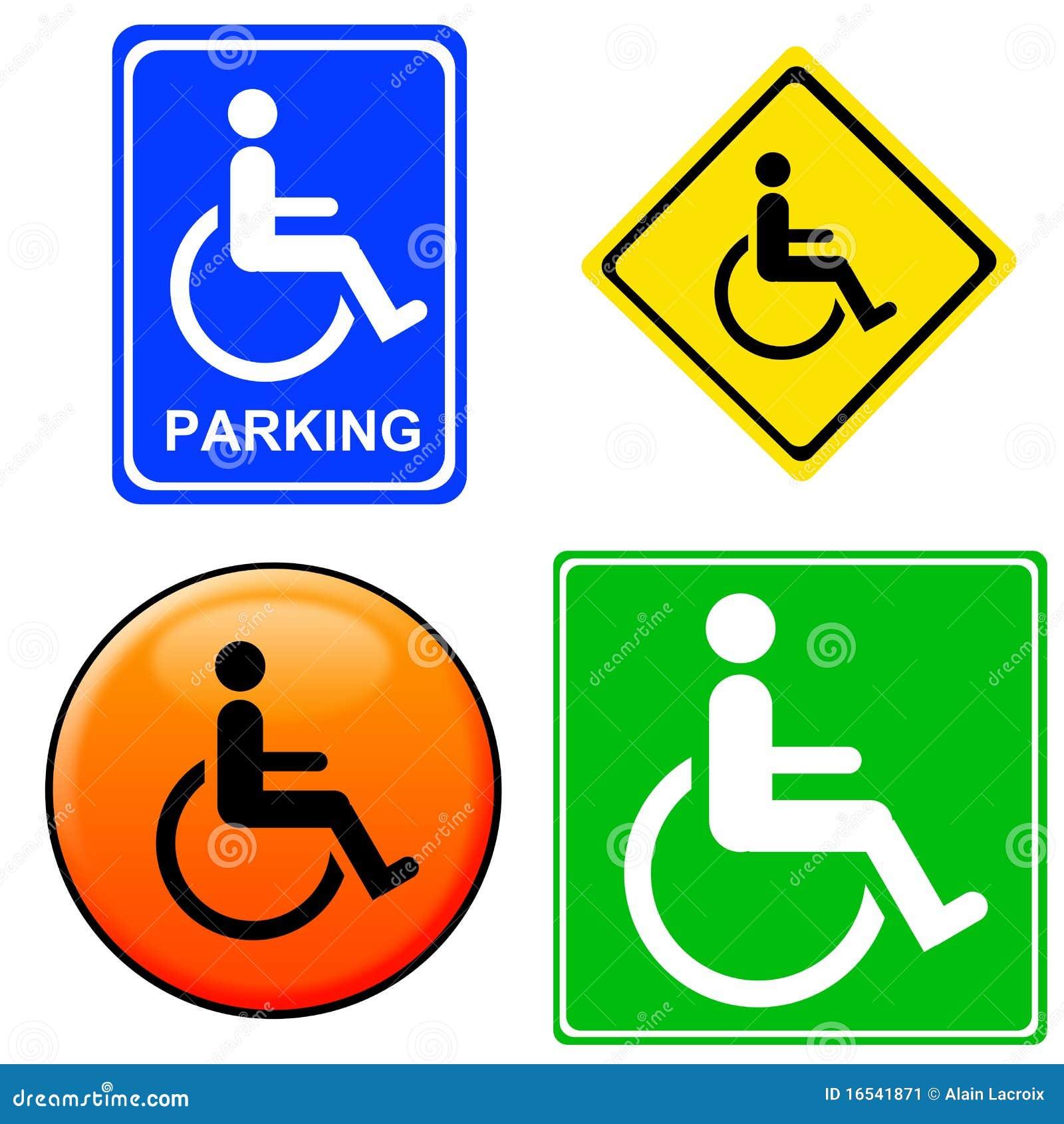 De tekens van de handicap