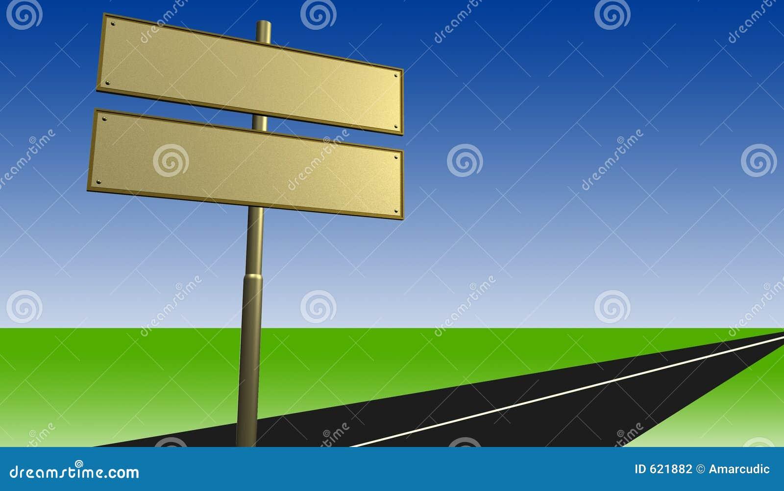 De tekens van de straat