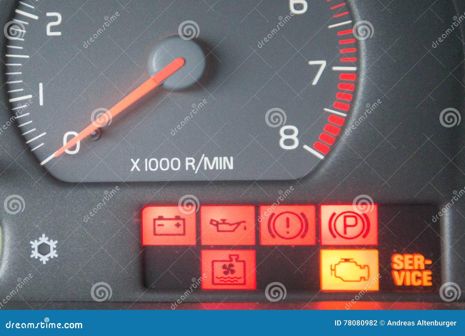 De Tekens Van Het Autodashboard Stock Foto Afbeelding Bestaande