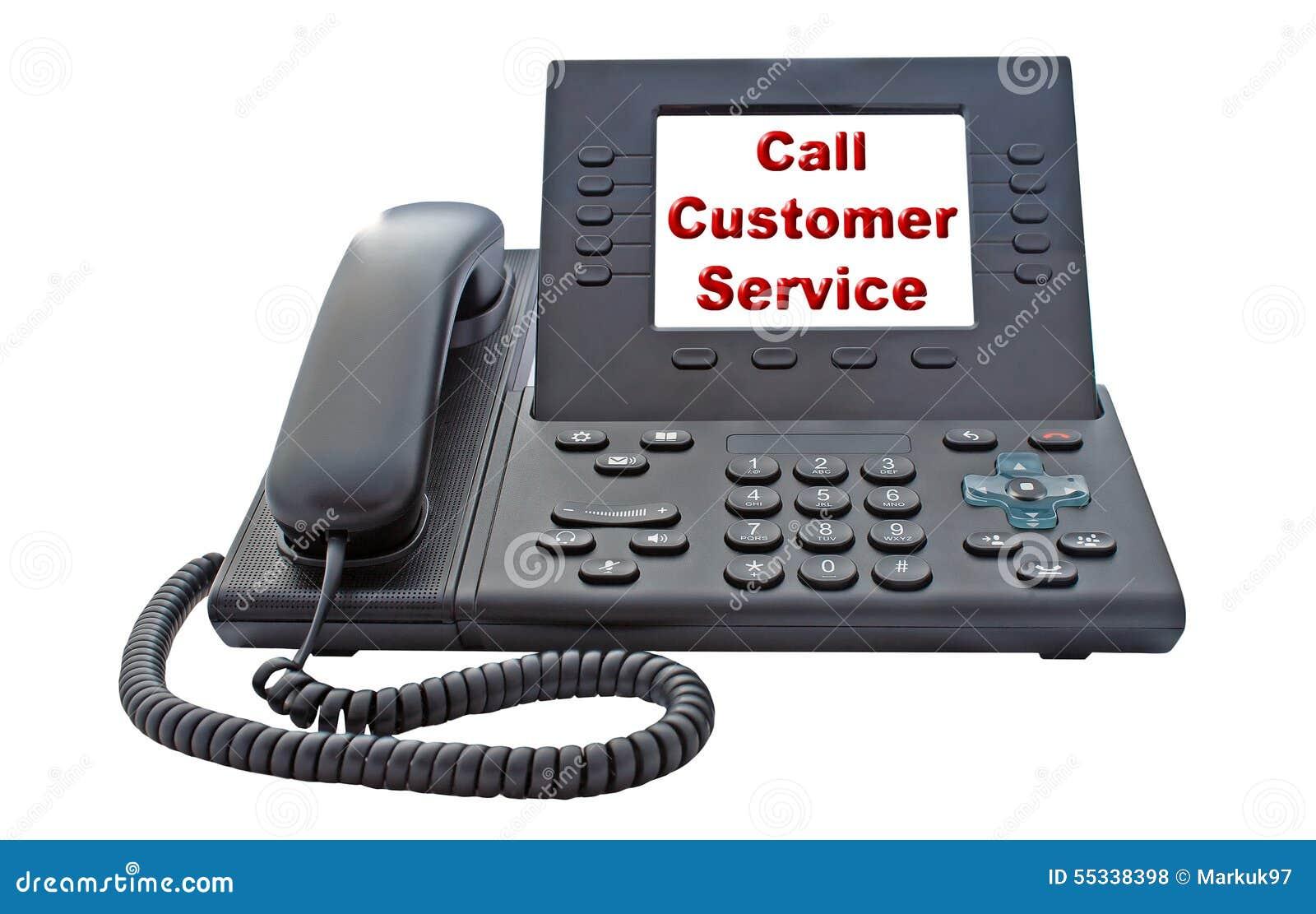 De Telefoon van VoIP van de klantendienst
