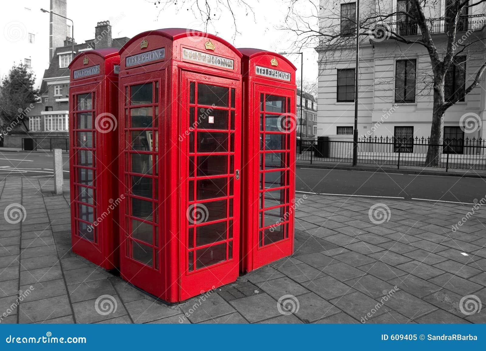 De telefoondozen van Londen