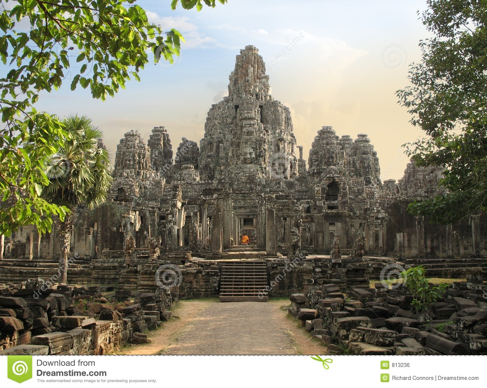 De Tempel van Bayon, Kambodja