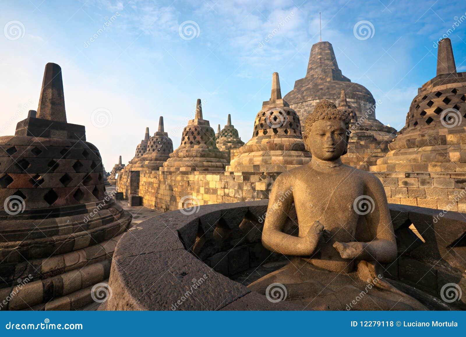 De Tempel van Borobudur, Yogyakarta, Java, Indonesië.