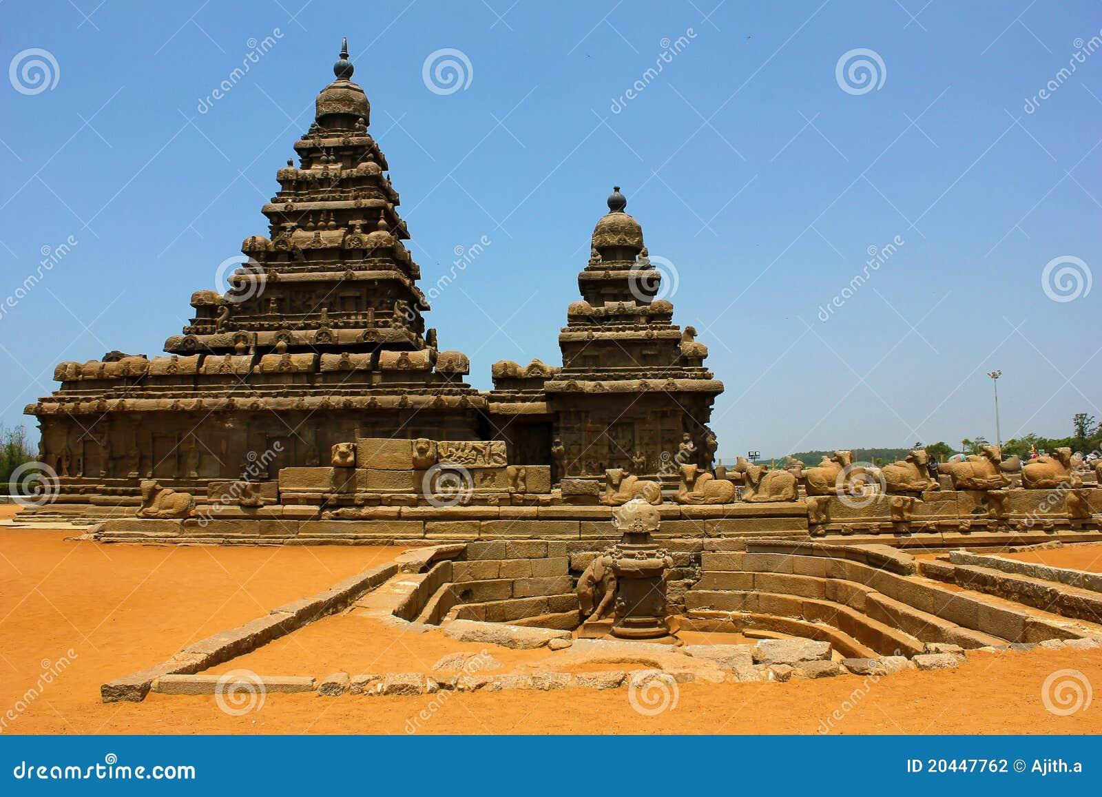 De tempel van de kust in Mahabalipuram, chennai, India