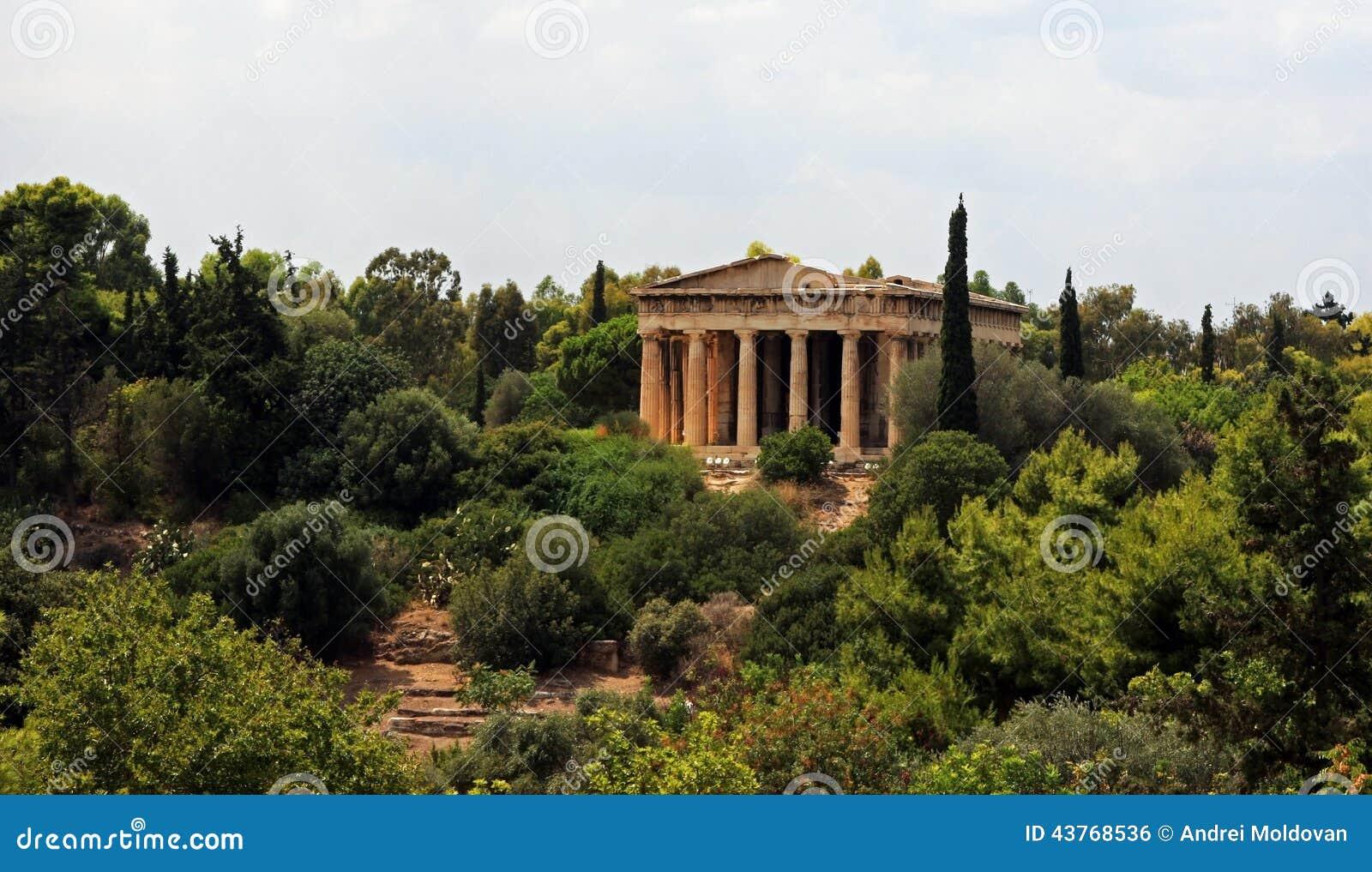 De tempel van Hephaestus in Athene