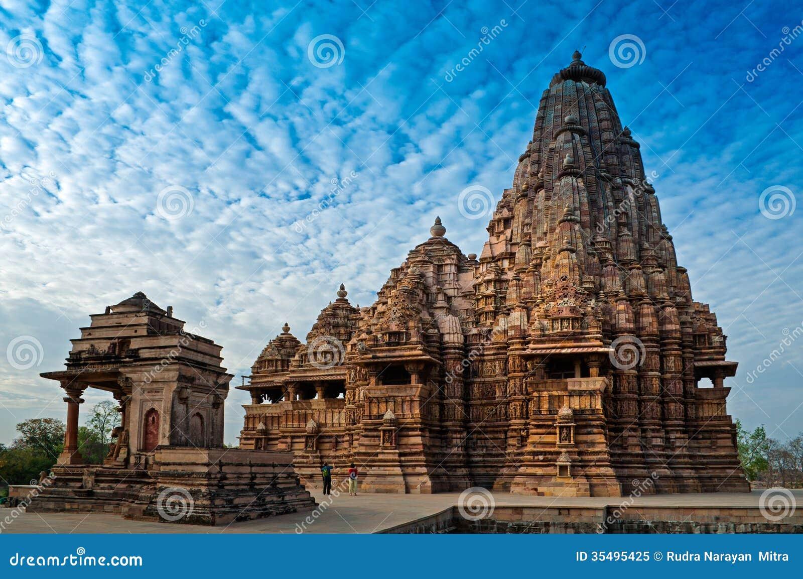De Tempel van Kandariyamahadeva, Khajuraho, India, Unesco-erfenisplaats