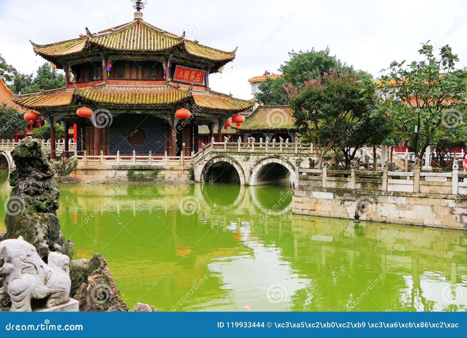 De Tempel van Kunmingsyuantong, Yunnan, China