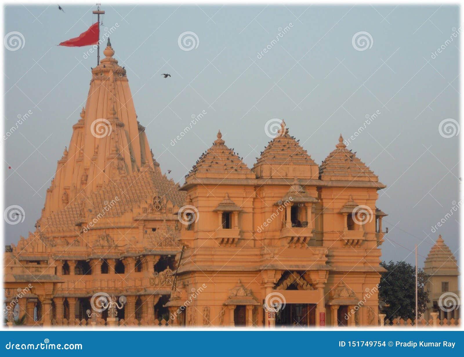 De tempel van Lord Shiva in Somnath