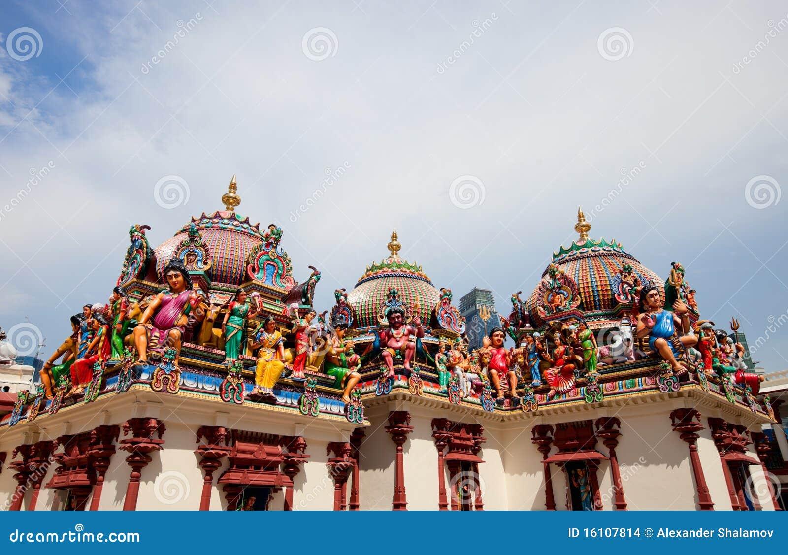 De Tempel van Mariamman van Sri in Singapore