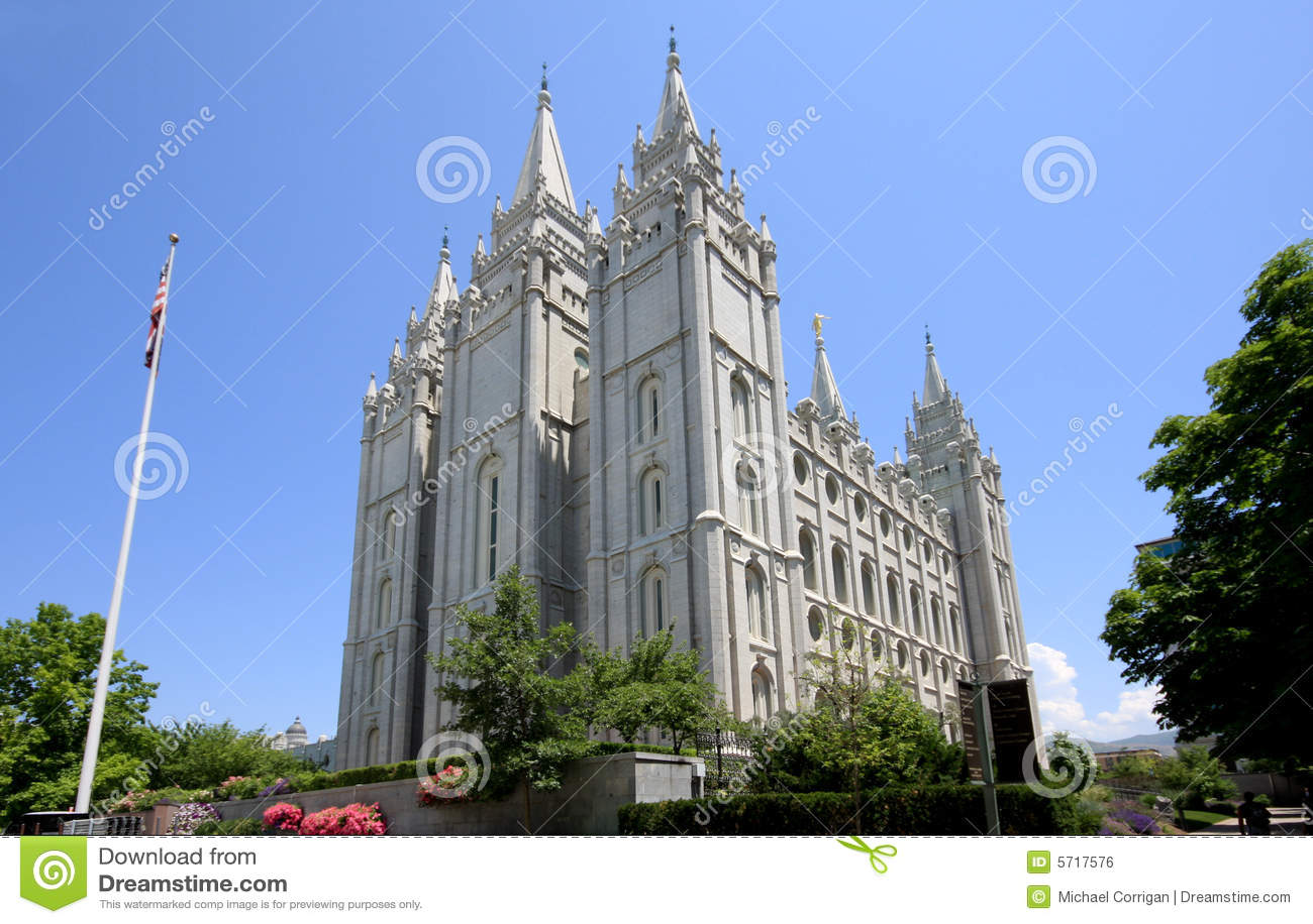 De Tempel van Salt Lake van de Mormonen in Utah