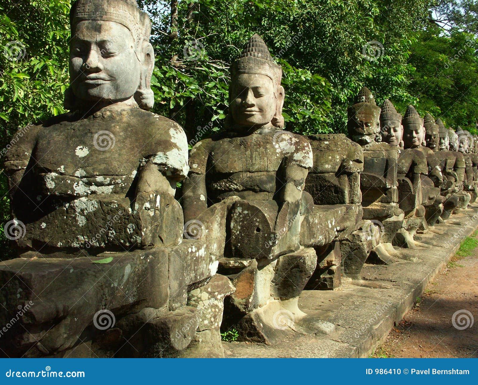 De tempel van Wat van Angkor