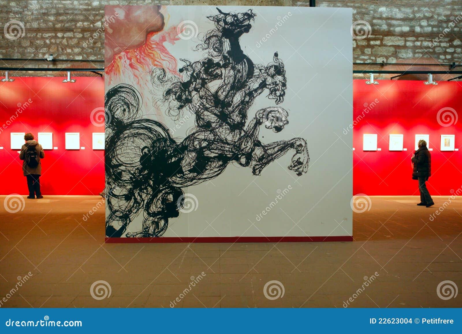 De Tentoonstelling Van Salvador Dali In Istanboel Turkije