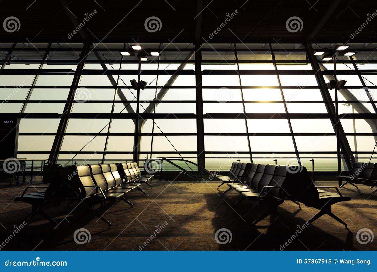 De Terminal van de luchthaven