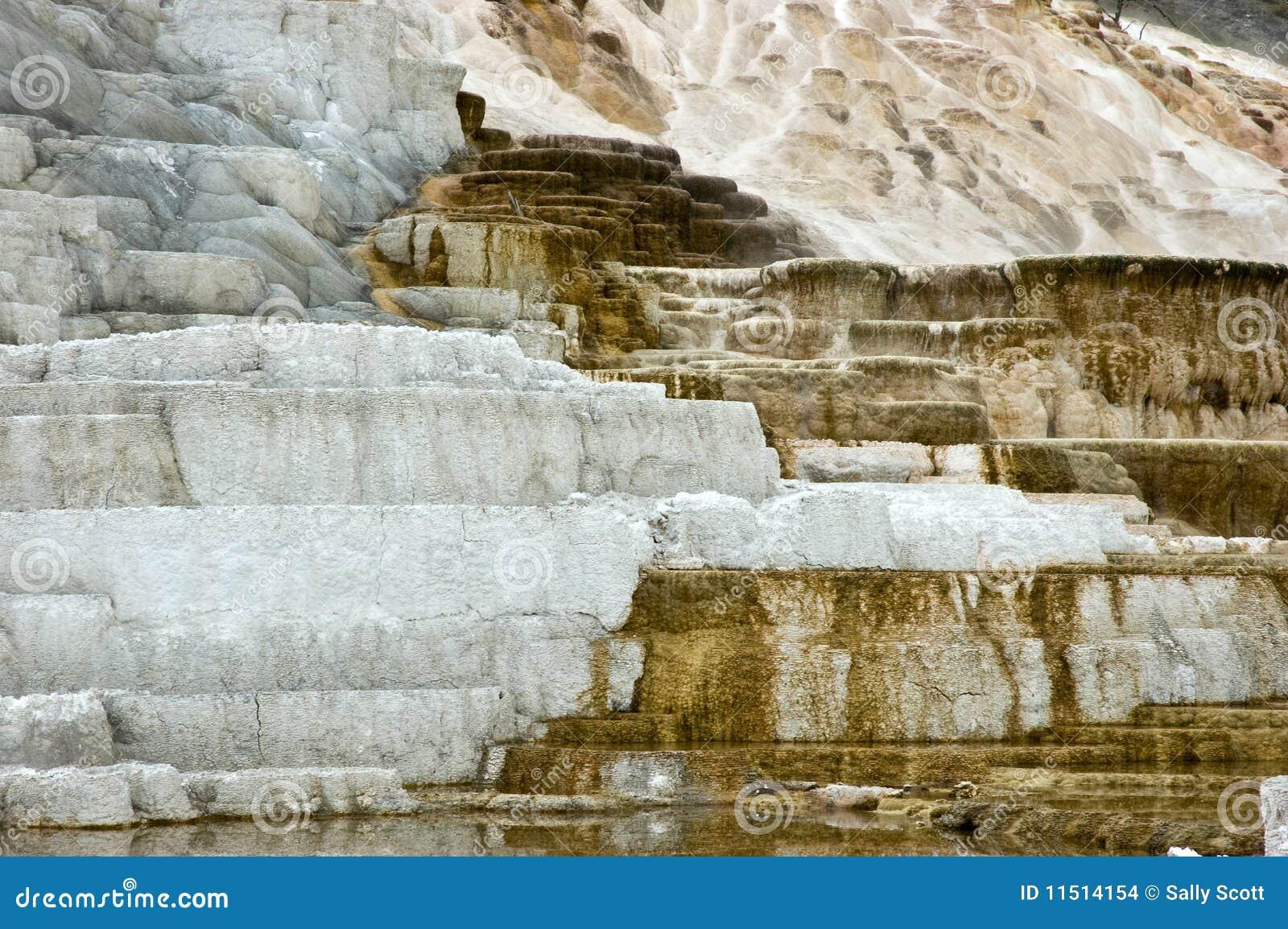 De terrassen van de travertijn stock foto afbeelding 11514154 - Afbeeldingen van terrassen verwachten ...