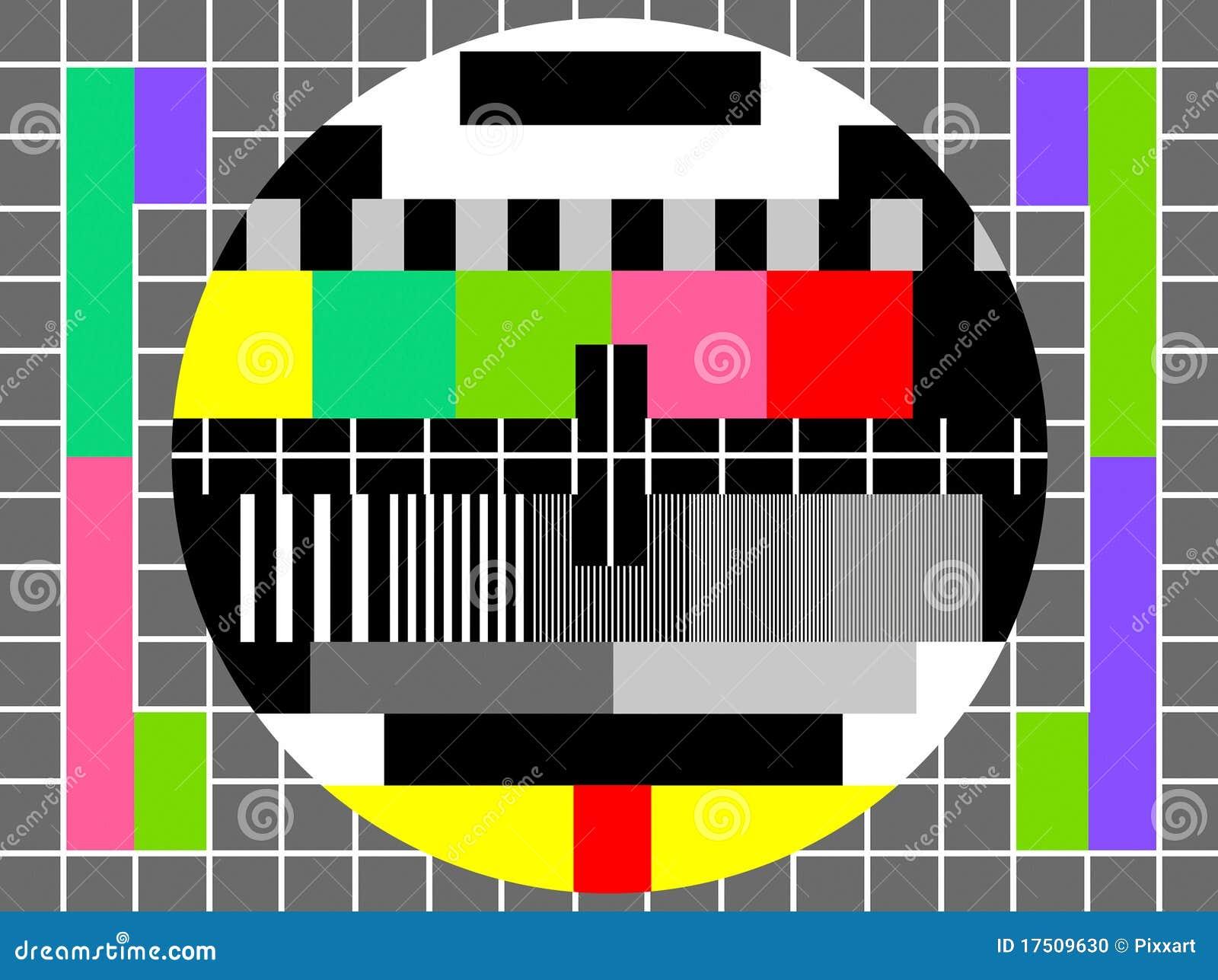 De test van de kleur voor het televisiescherm vector illustratie afbeelding 17509630 - Kleur idee voor het leven ...