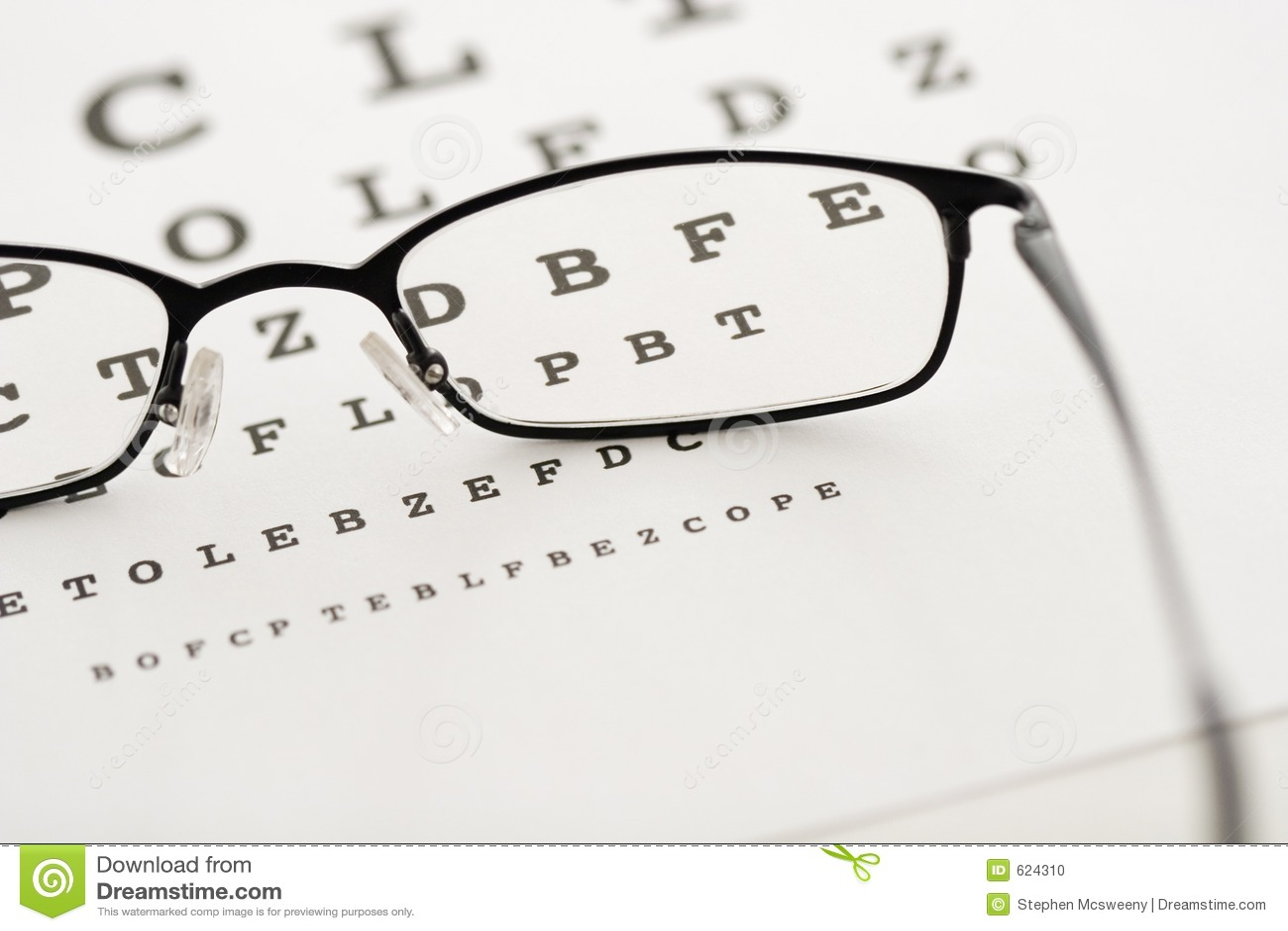 De test van het oog