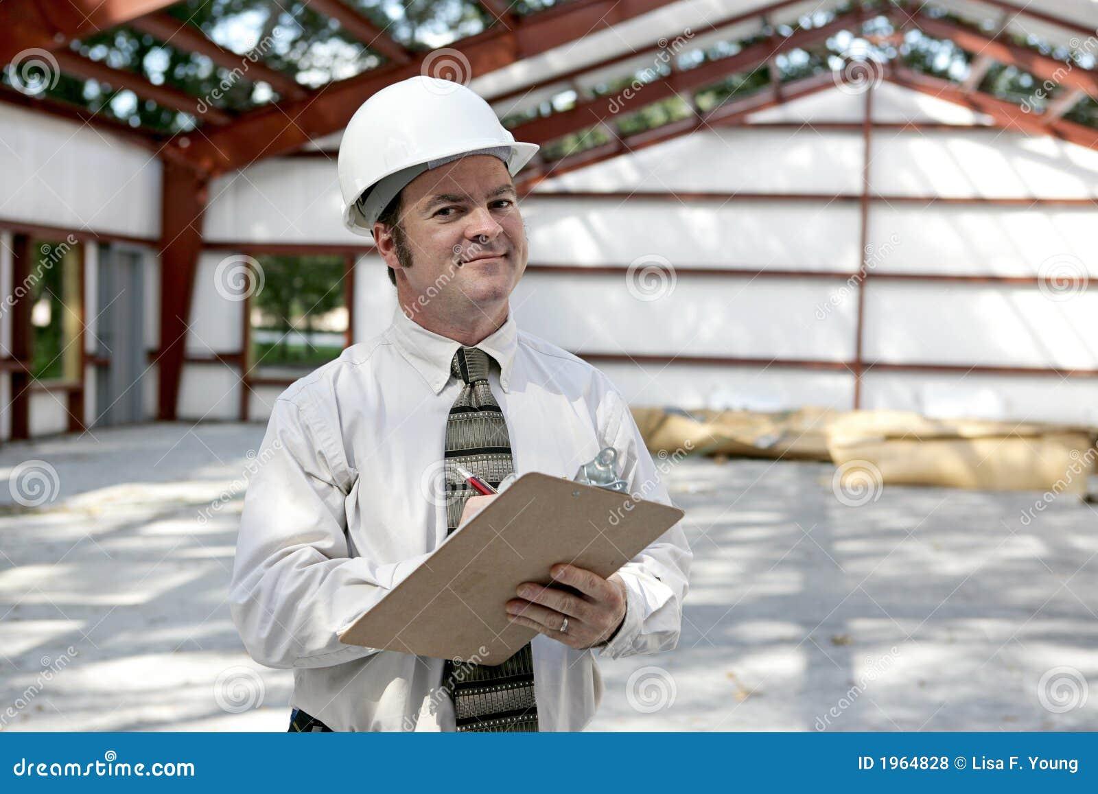 De Tevreden Inspecteur van de bouw -