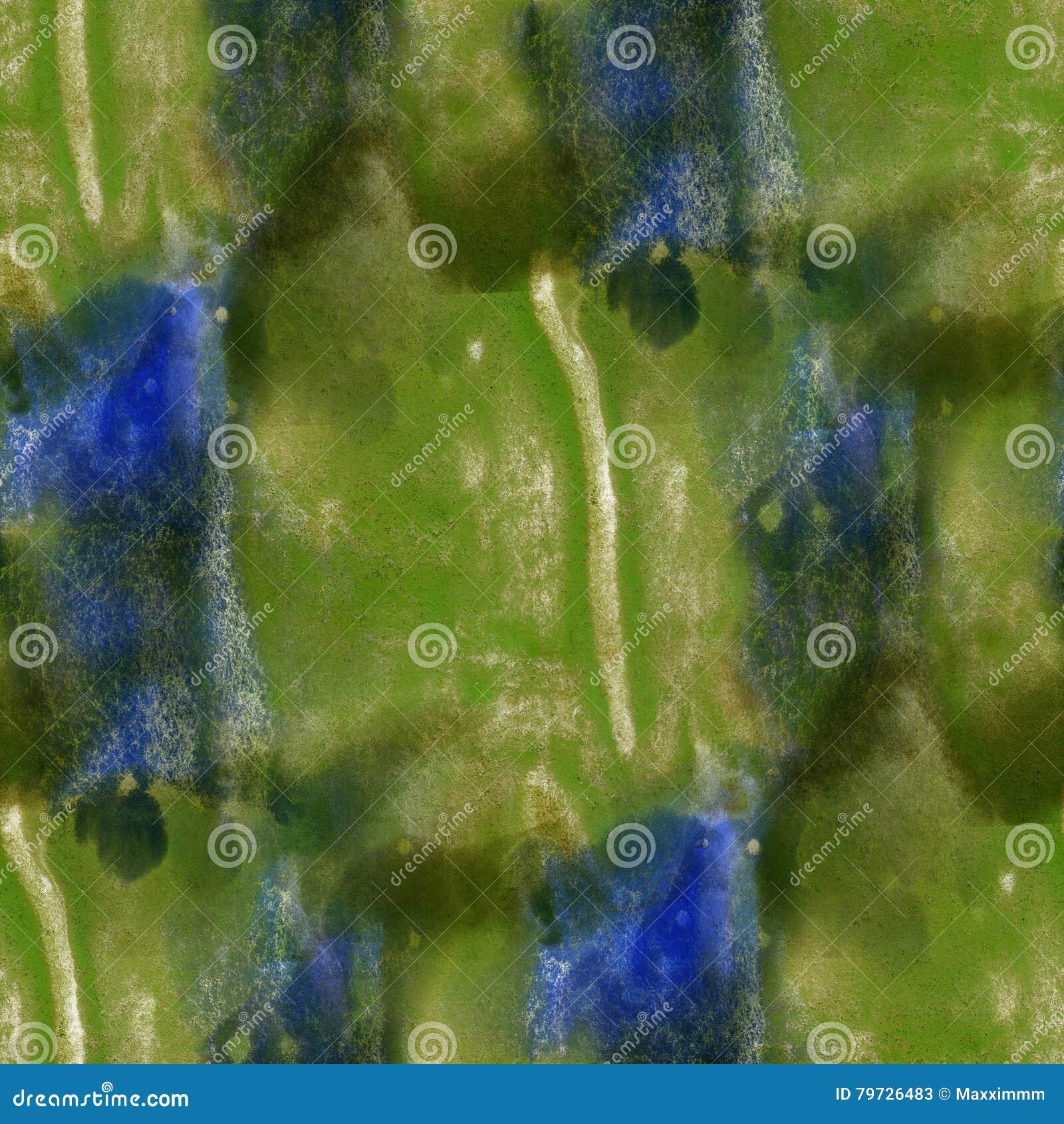 De textura inconsútil de la pintura de la acuarela azulverde del resplandor con los puntos y el arte de las rayas